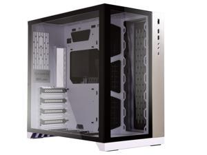 LIAN LI PC-O11 Dynamic White Tempered glass on the front, and left sides. Chassis body SECC ATX Mid Tower Gaming Computer Case - PC-O11DW