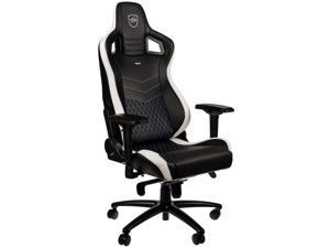 noblechairs EPIC Series No Pillows Limited Edition Black/White/Blue