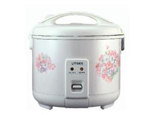 Tiger 4-Cup (Uncooked) Electric Rice Cooker and Warmer, White JNP-0720
