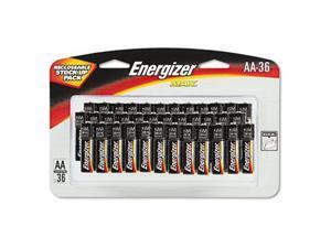 ENERGIZER Max 1.5V AA Alkaline Battery, 36-pack