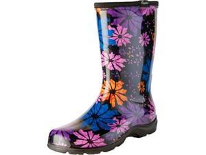 Sloggers PPL5016FP06 Women Boot with Trim Flower Power Print - Size 6
