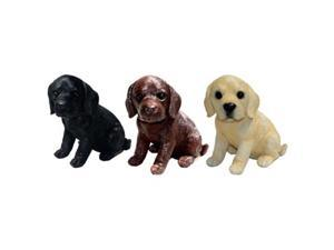 Michael Carr Designs MCD80104MIXA Mcarr Small Lab Puppies Mix 2 of Each Color - 6 Piece