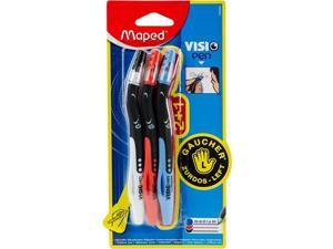 Blue 3-Piece Acrylic and Red Maped Helix Usa Visio Left Handed Pen Black Multicoloured