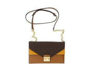 ec1c16ad58125e Michael Kors Sloan Large Leather - Wallet-on-chain - Brown/Acorn/