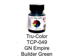 Tru-Color Paint TCP049 1 oz Great Northern Empire Builder Paint Bottle, Green