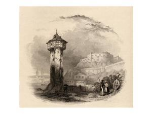 69eb8b175414 Posterazzi DPI1857577 The Roman Tower In Thal Ehrenbreitstein Germany  Engraved by Wallis From ...