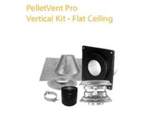 M & G Duravent 3PVP-KVA 3 Inch  Pelletvent Pro Vertical Kit For Flat Ceilings