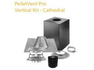 M & G Duravent 4PVP-KVB 4 Inch  Pelletvent Pro Vertical Kit For Cathedral Ceilings