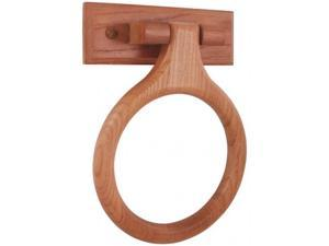 LDR 165 9840 Rustic Oak Towel Ring