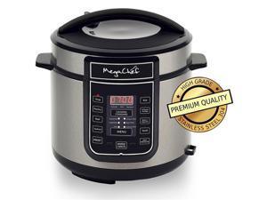 MEGACHEF MCPR100A Quart Digital Pressure Cooker with 14 Pre-set Multi Function