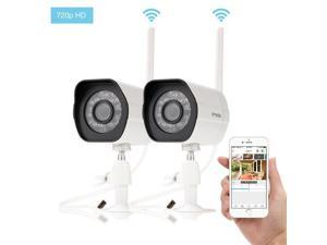Zmodo ZM-W0002-2 720p HD Wireless Bullet Outdoor IP Camera with Night Vision - Pack of 2