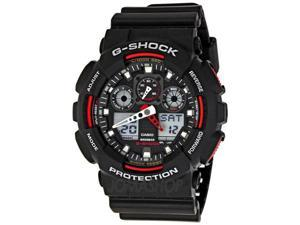 Casio GA100-1A4 G-Shock Analog-Digital Speedometer Men's Watch (Black / Red)