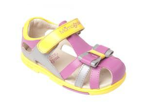 143e24e85860 Momo Grow Toddler Little Kid Petite Bow Orchid Leather Sandal Shoes