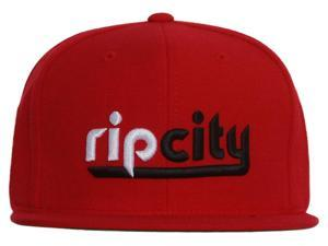 48edd4cd0ec Portland Trailblazers Rip City Mitchell   Ness Red Snapback Cap