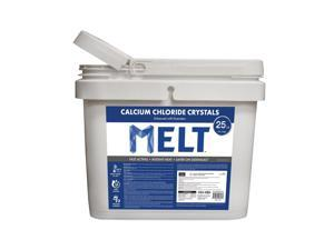 Snow Joe Melt Calcium Chloride Crystals Ice Melter 25 Pound Bucket