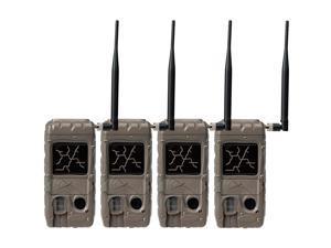 Cuddeback 2 Flash Cuddelink Invisible IR Game Trail Cameras + Wireless Network (4 Each)