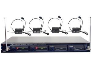 Pyle Pro PDWM4400 VHF Rack Mount 4-Mic Wireless System
