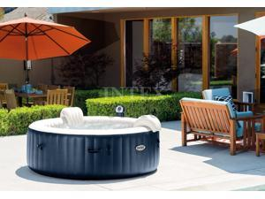 Intex Pure Spa Inflatable 6-Person Bubble Hot Tub + Slip Resistant Seat