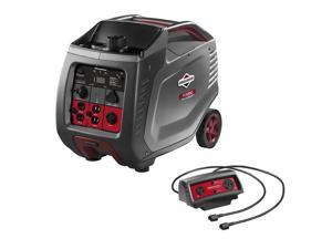 Briggs & Stratton P3000 Portable Inverter Generator with Parallel Cable Connector Kit