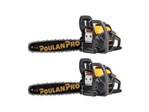 "Poulan Pro 20"" Bar 50cc 2 Cycle Gas Chainsaw (2 Pack)"