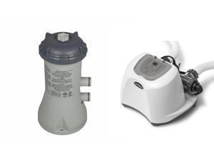 Intex Krystal Clear 1000 GPH Filter Pump & 15000 Gal Saltwater Chlorinator
