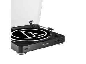 AudioTechnica AT-LP60 Fully Automatic Stereo Turntable System with Two Speeds (Black)