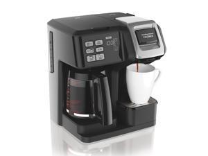 Hamilton Beach 49976 FlexBrew 2-Way Coffee Maker with 12-Cup Carafe & Pod Brewer, Black