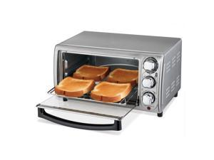 Hamilton Beach 31143 4 Slice Toaster Oven Broiler, Stainless Steel