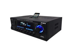 New Pyle Pt270aiu Home Theater Am Fm Receiver & Amplifier With Ipod Iphone Dock