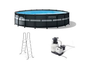 """Intex 18' x 52"""" Ultra XTR Frame Round Above Ground Swimming Pool Set with Pump"""