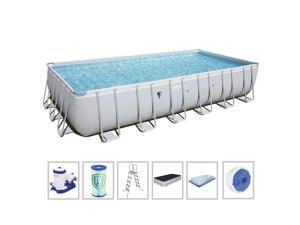 Bestway 56542E 24ft x 52in Rectangular Above Ground Swimming Pool Set with Pump