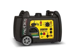 Champion 3400 Watt Portable Quiet Electric Start Dual Fuel Inverter Generator