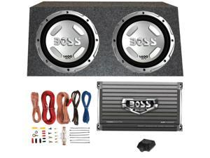 "BOSS AUDIO CX122 12"" 1400W Car Power Subwoofers Sub+Mono Amplifier+ Amp Kit+Box"