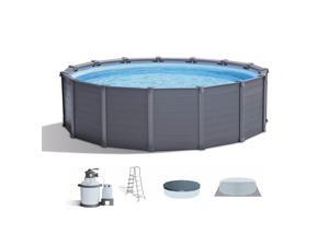 Intex 15.6ft x 49in Above Ground Swimming Pool Set w/ Sand Filter Pump & Ladder