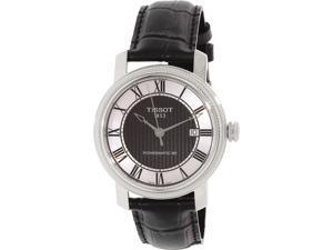 5b302d03a Tissot Men's T-Classic T097.407.16.053.00 Black Leather Automatic Watch