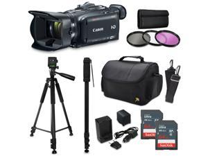 Canon XA30 HD Professional Video Camcorder + Accessory Kit with 128GB Memory + Tripod + Monopod + Bag + Extra Battery