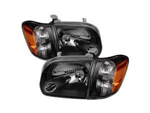 Spyder Auto Toyota Tundra Double Cab 4 Door Only 05-06 / Sequoia 05-07 OEM Style Headlights & Corner Lights - Black 9034336