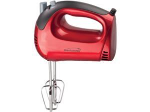 Brentwood Lightweight 5-Speed Electric Hand Mixer, Red  HM-46