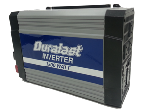 Duralast 1500W Power Inverter DC 12V to 110V Car AC w/Battery Cables & 2.1A USB 7818MB