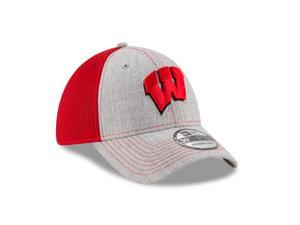 Wisconsin Badgers 39THIRTY Heathered Neo 2 Flex Fit Cap ... 3b22c81b7