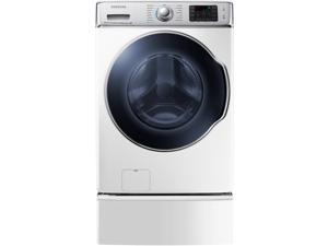 """30"""" Front-Load Washer with 5.6 cu. ft. Capacity, 15 Wash Cycles, 13 Options, SuperSpeed Option, Steam Cleaning, 1,300 RPM, PowerFoam Technology and Self Clean+: White"""