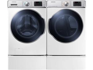 Samsung  DV56H9100GW:  DV9100  9.5  cu.  ft.  Gas  Front  Load  Dryer  (White)