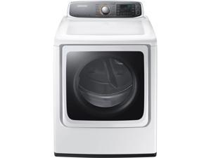 """30"""" Front-Load Gas Dryer with 9.5 cu. ft. Capacity, 15 Dry Cycles, Steam Refresh Cycle, 11 Options, 5 Temperature Settings, Sensor Dry, Vent Sensor and Dryer Rack: White"""