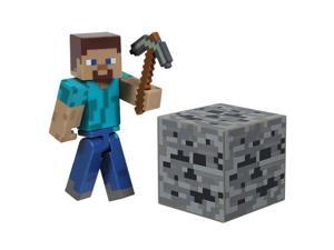 Minecraft Overworld 2.75 Action Figure with Accessory - Core Steve