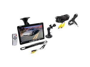 """7"""" Window Suction Mount TFT/LCD Video Monitor w/ Universal Mount Rearview Backup Color Camera & Distance Scale Line"""