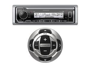Kenwood KMR-M322BT Single DIN Marine Digital Media Bluetooth Receiver, Kenwood KCA-RC35MR Wired Remote