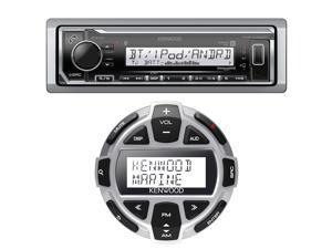 Kenwood KMR-M322BT Single DIN Marine Digital Media Bluetooth Receiver, Kenwood KCA-RC55MR Wired Remote