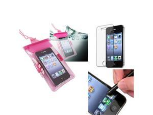 c969a2f1cfcc Universal Hot Pink Waterproof Bag Skin Case Cover+Stylus+SPT compatible  with iPhone 4 4S