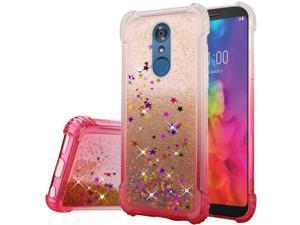 7b69d031d4a0 Insten Two Tone Color Design Quicksand Glitter Hard Plastic Soft TPU Rubber  Case Cover For