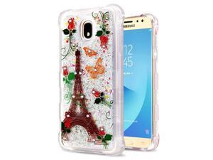 36aef08ef Insten Quicksand Glitter Paris Monarch Butterflies Case Cover For Samsung  Galaxy J7 ...